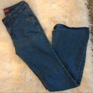 Bell Bottom True Blue Jeans